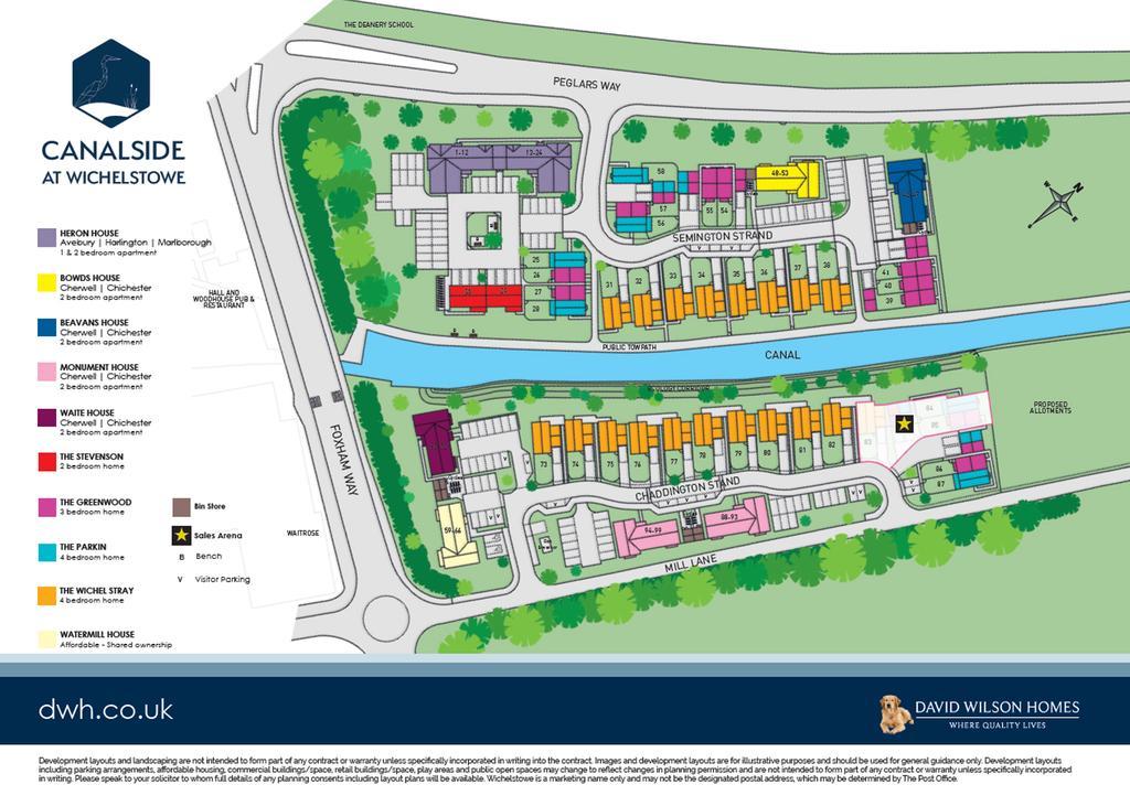 site plan wichelstowe david wilson homes