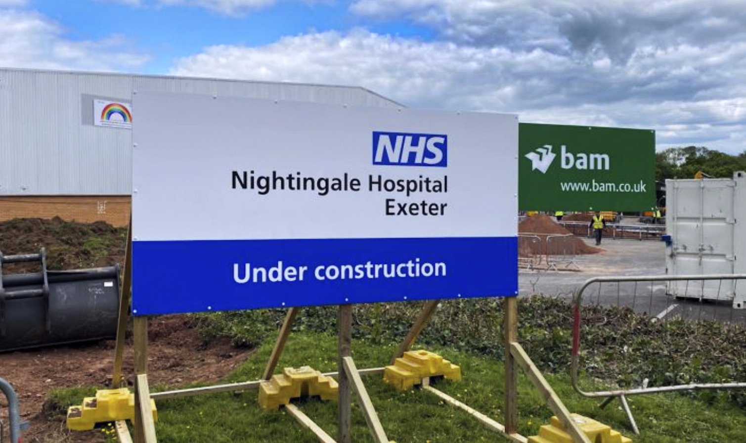 bam NHS nightingale exeter construction cleaning