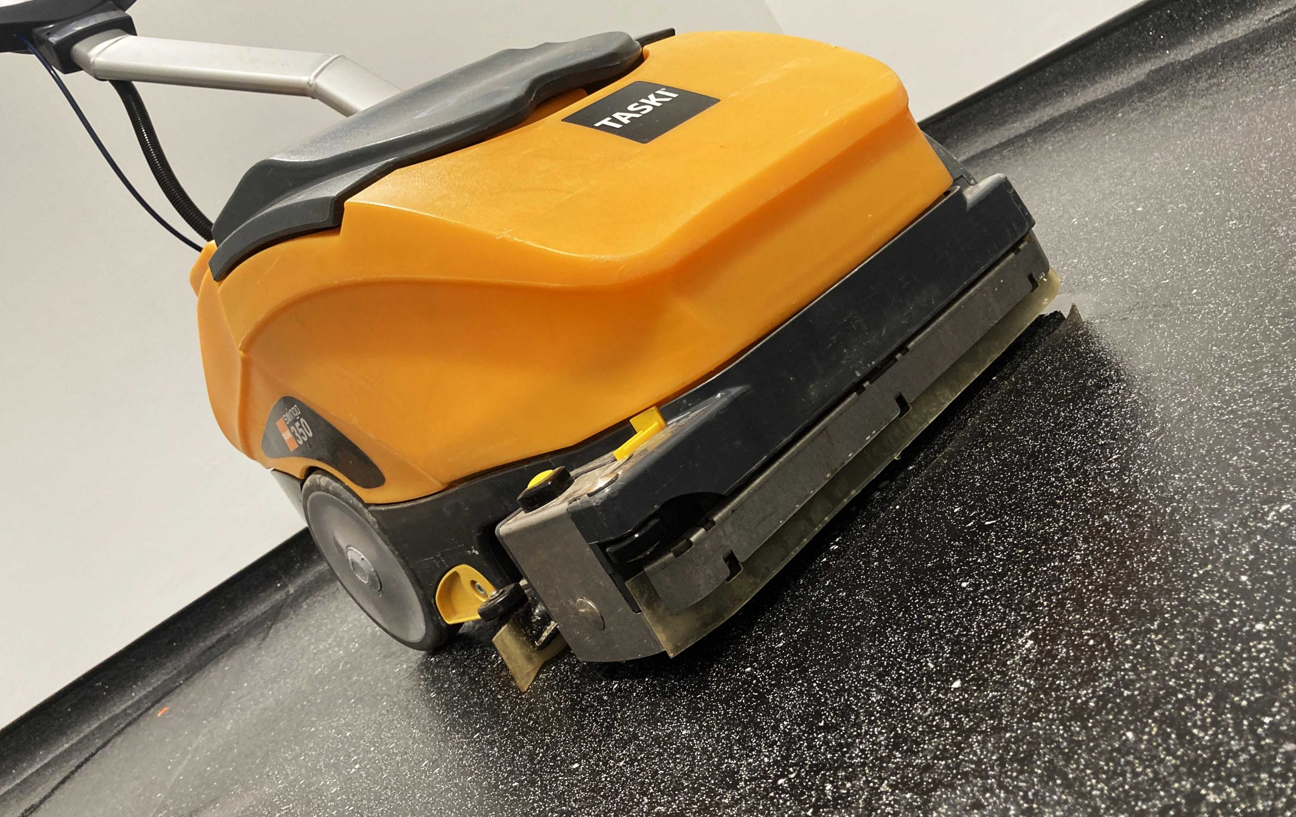 hard floor cleaning taski scrubber
